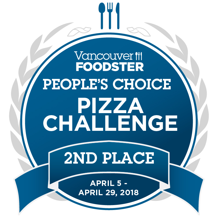 Vancouver Foodster. People's Choice - Pizza Challenge 2nd Place